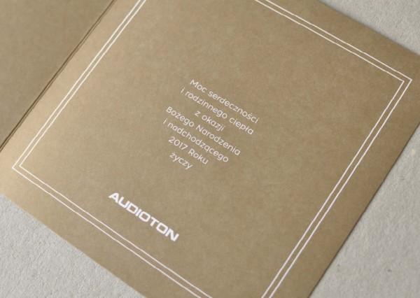 Kartka świąteczna z logo firmy