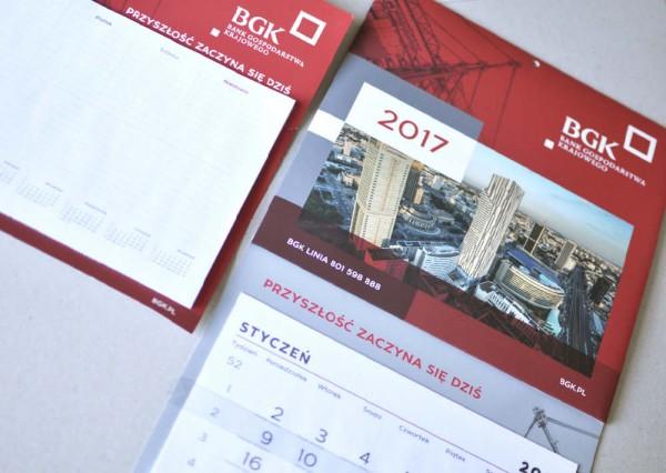 Kalendarz plakatowy z logo firmy