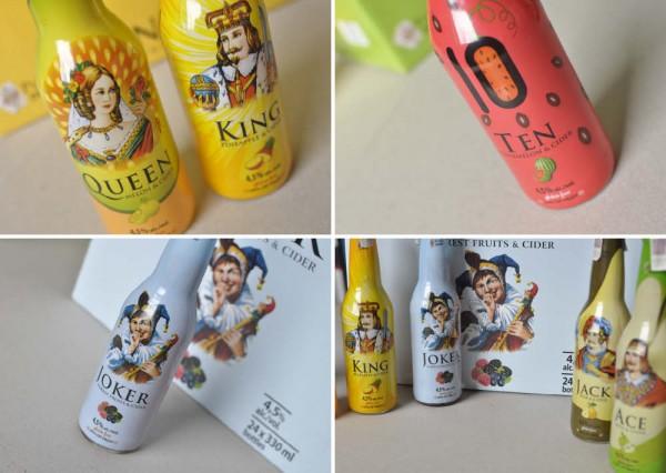 Etykiety na butelki - Poker Drinks