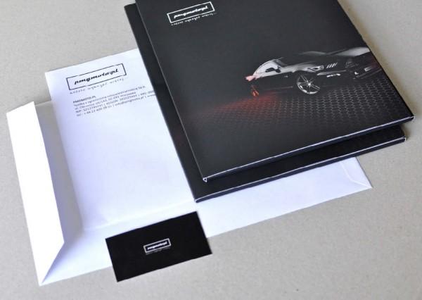Materiały firmowe: wizytówki, teczki z logo