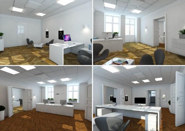 Projekty graficzne - Wnętrze biura