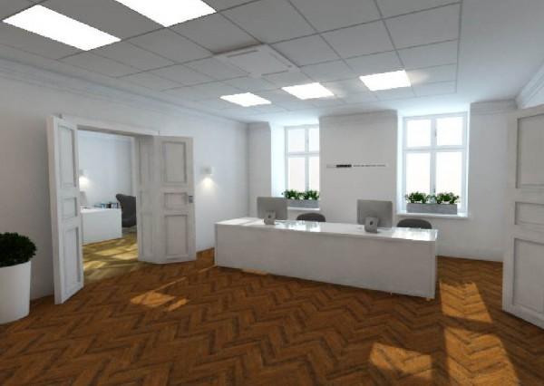 Wnętrze biura - projekt grafiki