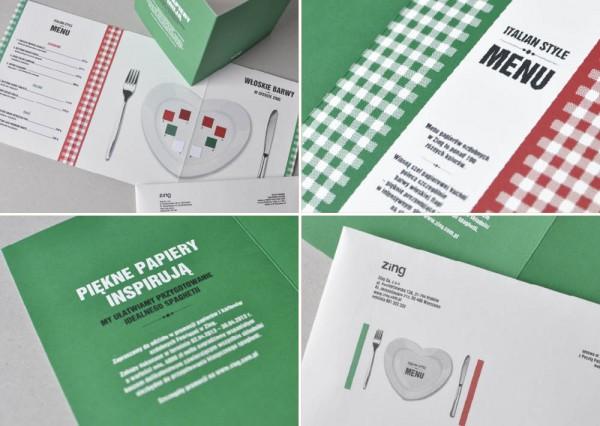 Projekty graficzne - mailing Italian Style Menu